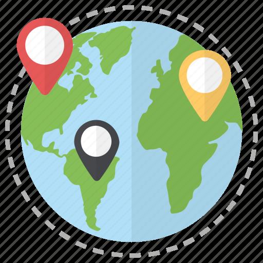global locations, international addresses, location markers, location pins, location pointers, locations icon