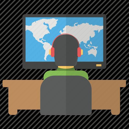customer representative, customer support, help service, international csr, support service icon