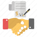 mutual agreement, business agreement, business contract, partnership, sales contract, purchase contract