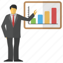 analytical data, business analysis, business presentation, infographics, statistics icon