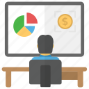 business analysis, business statistics, data analytics, data stats, financial analysis icon