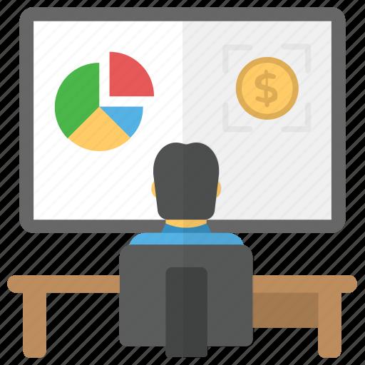 business analysis, business statistics, data analytics, data stats, financial analysis icon