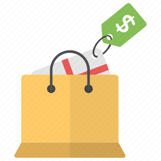 package purchase, paper bag, sale package, shopping, shopping bag icon