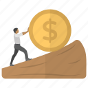 economy growth, financial growth, financial profit, money gain, money growth icon