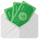 funds, investment, money envelope, paper money, payment, savings icon