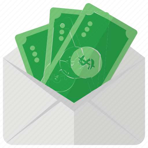 Funds, money envelope, investment, savings, paper money, payment icon