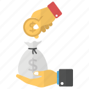 investment, money bag, money pouch, money sack, savings icon
