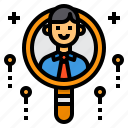 business, headhunting, qualification, recruitment, search icon