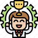 employee, motivation, success, achievement, reward