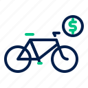 bicycle, bike, cycle, rental, transportation icon