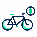 bicycle, bike, cycle, rental icon