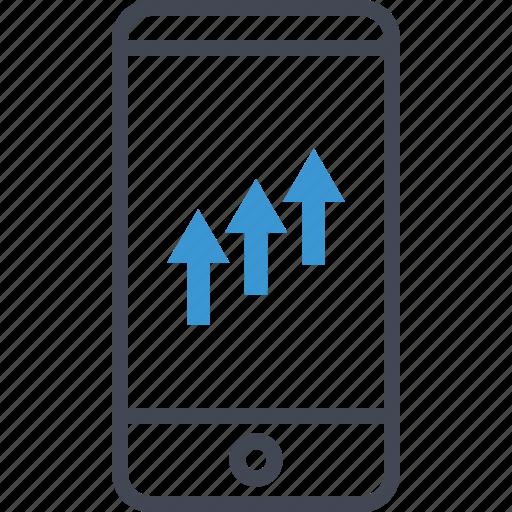 arrows, revenue, up icon