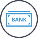 bank, banking, bill, note icon