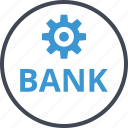 bank, banking, setup icon