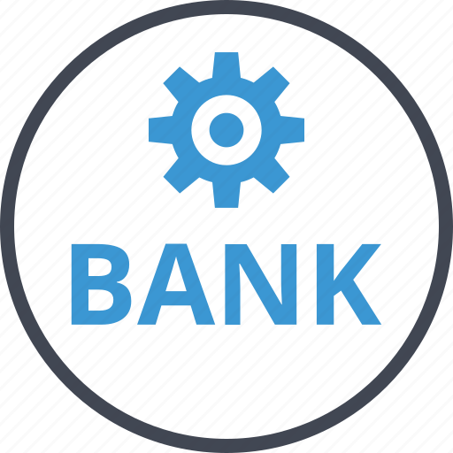 bank, banking, setup icon