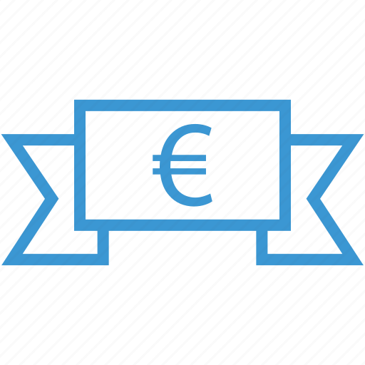 banner, euro, money, sign icon