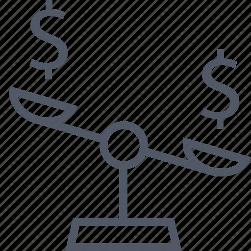 business, libra, scale icon