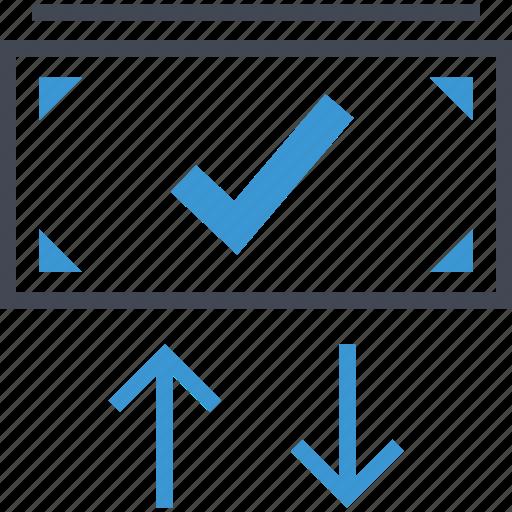 arrows, check, mark, up icon