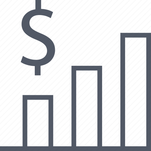 business, dollar, graph, graphic icon