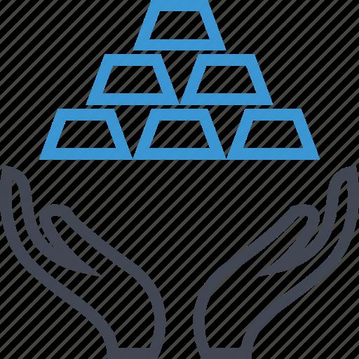 business, hand, money icon