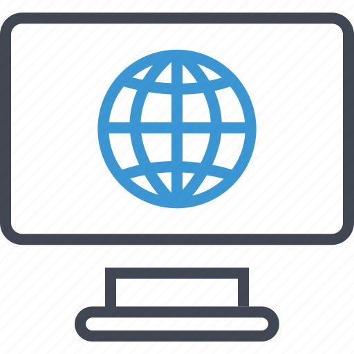 computer, internet, screen, web icon