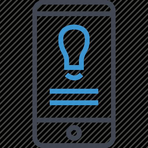 brilliant, idea, mobile icon