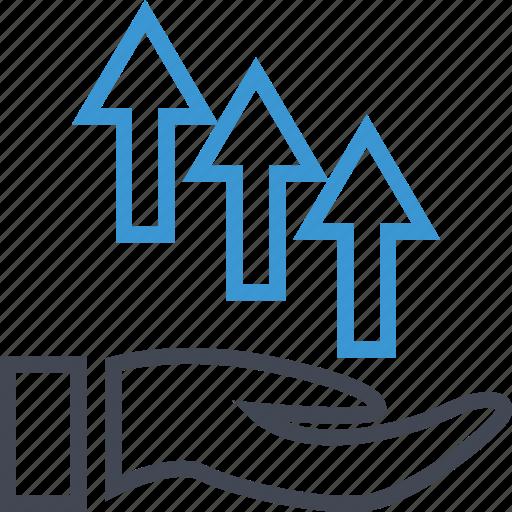 arrow, good, money, up icon
