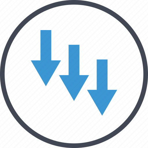 arrows, going, money icon