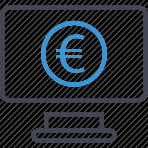computer, money, screen icon