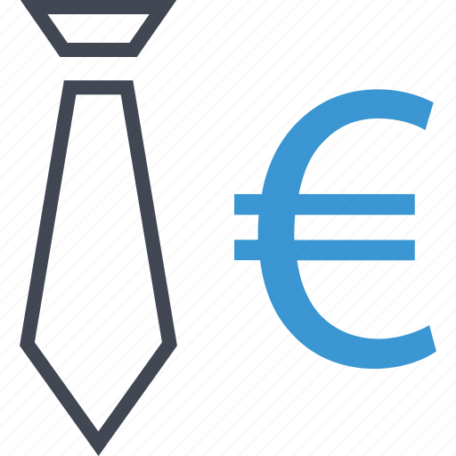 euro, money, sign, tie icon