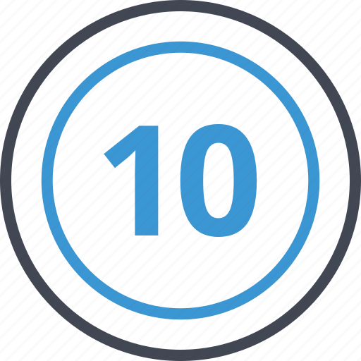 number, pay, payment, ten icon