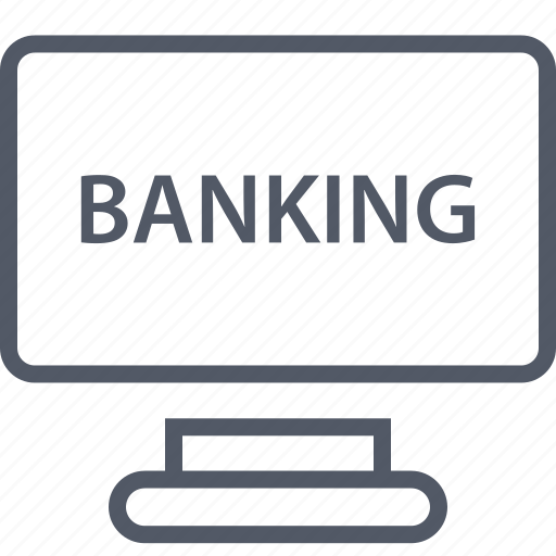banker, banking, online, web icon