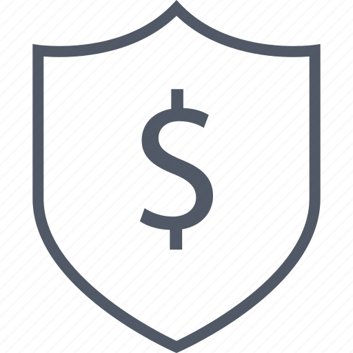 business, dollar, shield icon