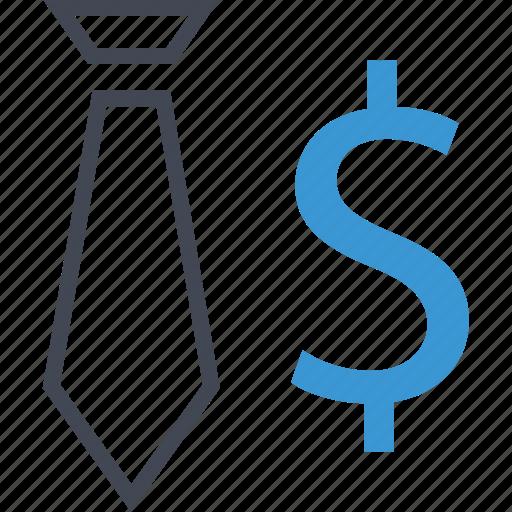 business, dollar, money, tie icon