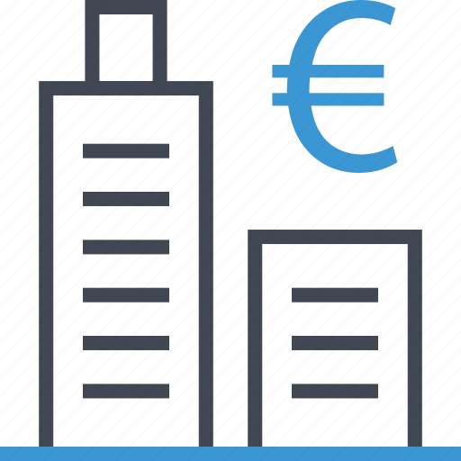 business, euro, tower icon