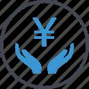 hand, hands, yen icon