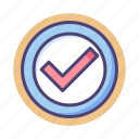 accepted, approved, checked, checkmark, confirmed, done, tick icon