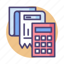 accounting, bill, budget, calculator, finance, financial, receipt icon