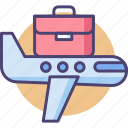 business class, business class flight, business travel, business traveler, business traveller icon