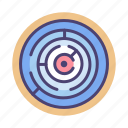 challenge, logical thinking, maze, path, problem solving icon