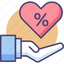 affiliate, commission, percent, percentage, referral icon