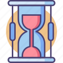 deadline, due date, hourglass, sand clock, sandclock, time icon