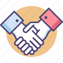 agreement, contract, cooperation, deal, hands, handshake, partnership icon