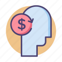 cost, employee cost, rate, salary, wages icon