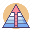 food chain, hierarchy, pyramid, pyramid chart icon