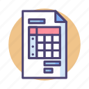 bill, document, invoice, order, paper, receipt icon
