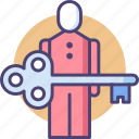 key people, key person, key personnel, person in charge, pic icon