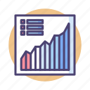 analytics, chart, data, data analysis, data analytics, diagram, graph icon
