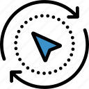arrow, compass, direction, navigation icon