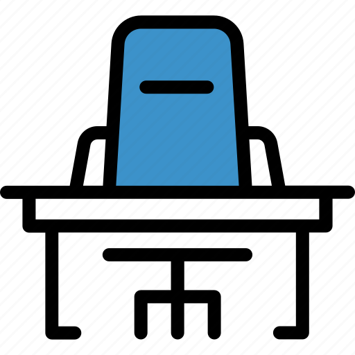 business, desk, office icon